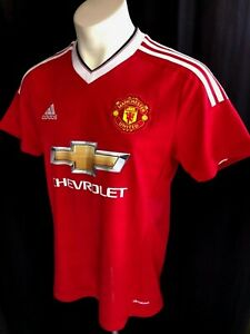 M-ADIDAS-MANCHESTER-UNITED-SOCCER-JERSEY-MUFC-FOOTBALL-SHIRT-AUTHENTIC-ORIGINAL