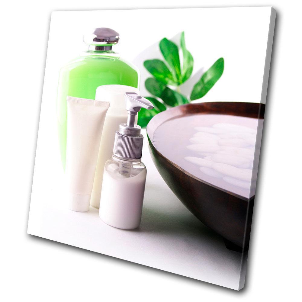 Bathroom Creams Lotions SINGLE TELA parete arte foto stampa