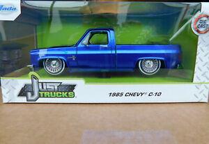 1:24 JADA TOYS 1985 Chevrolet C-10 PICKUP TRUCK *BLACK* *MiJo EX* NIB!