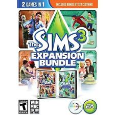 SIMS 3 EXPANSION PACK BUNDLE PC SIMULAT NEW VIDEO GAME