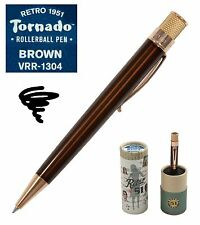 Retro 51 #VRR-1304 / Lacquered Brown Tornado Roller Ball Pen