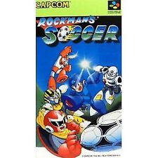 ROCKMAN Mega man SNES Super famicom SFC JAPAN Rockman's Soccer