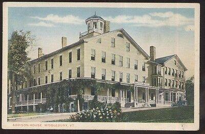 Postcard MIDDLEBURY Vermont/VT  Addison House Tourist Inn view 1910's?