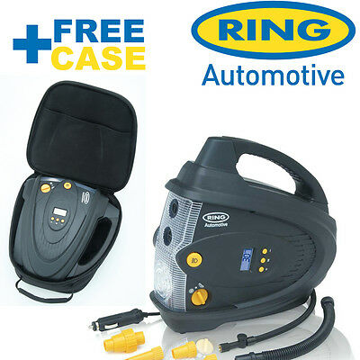 RING RAC 640 Digital Car Tyre Compressor Pump Tyre Inflator RING automotive