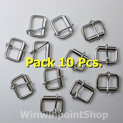 "Lot 10 50 100 Pc 5/8"" 16mm Silver Color Buckle Webbing Strap Leather Shirt Craft"