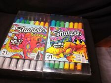 New Listingsharpie Limited Edition Permanent Markers Fine Point 21 Count Colors New In Box