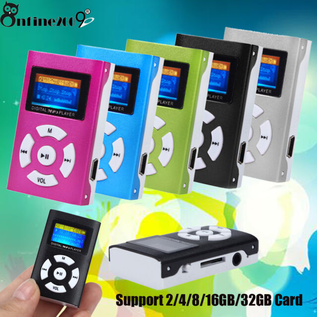 Mini USB Digital MP3 Reproductor de música Pantalla LCD metálico para 32gb