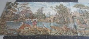 "Antiques Antique 19c Aubusson Style French Tapestry Size26""x61cm66x154 Beautiful Color Linens & Textiles (pre-1930)"