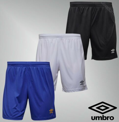 Mens Branded Umbro Printed Logo Sport Polyester Jersey Football Shorts Size S-XL