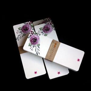 40Pcs/set Vintage Floral Paper Blank DIY Bookmarks Gifts Tags Postcard Card 8C