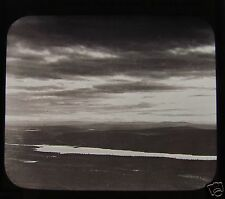 Glass Magic Lantern Slide MIDNIGHT SKY IN SUMMER NORTHERN SWEDEN C1890