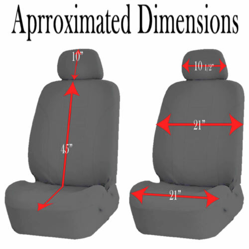 UAA All Weather SUV Rubber Mats /& Dual-Stitch Racing Polyester Seat Covers Set