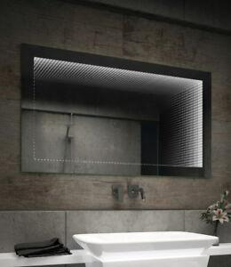 Badspiegel Mit Led 3d Wh Beleuchtung Tieffeneffekt Kaltweiss