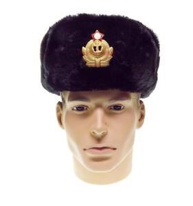 eb060b30dc8 Russian Army Marine Ushanka Hat Sailor USSR Military Naval Uniform ...