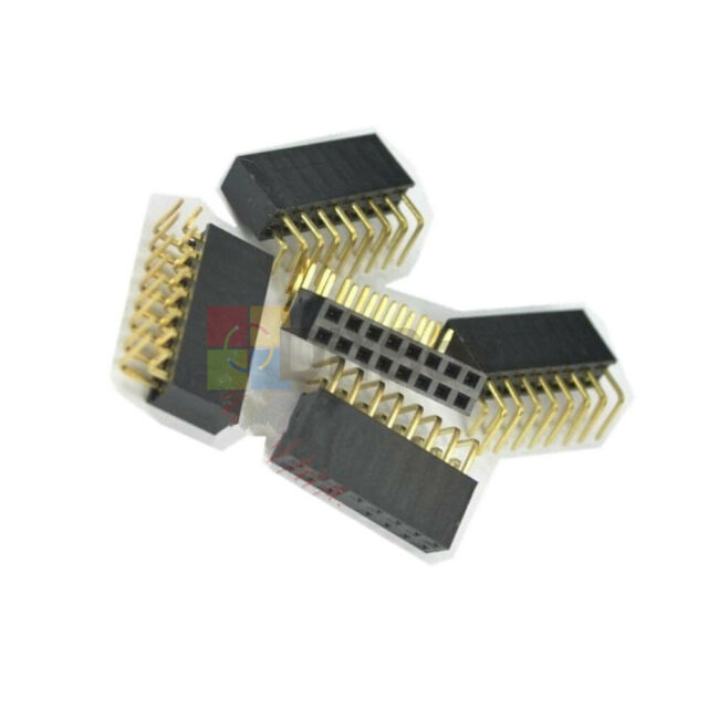 20Pcs 2x8Pin 2.54mm Pitch Double Row Female Header Right Angle Socket Connector