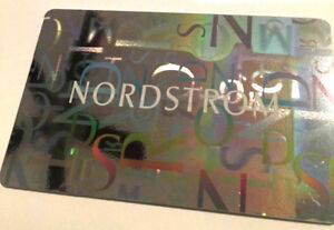 ---0----- Nordstrom Reflective Ebay Gift Rechargeable Value Card Silver Retail
