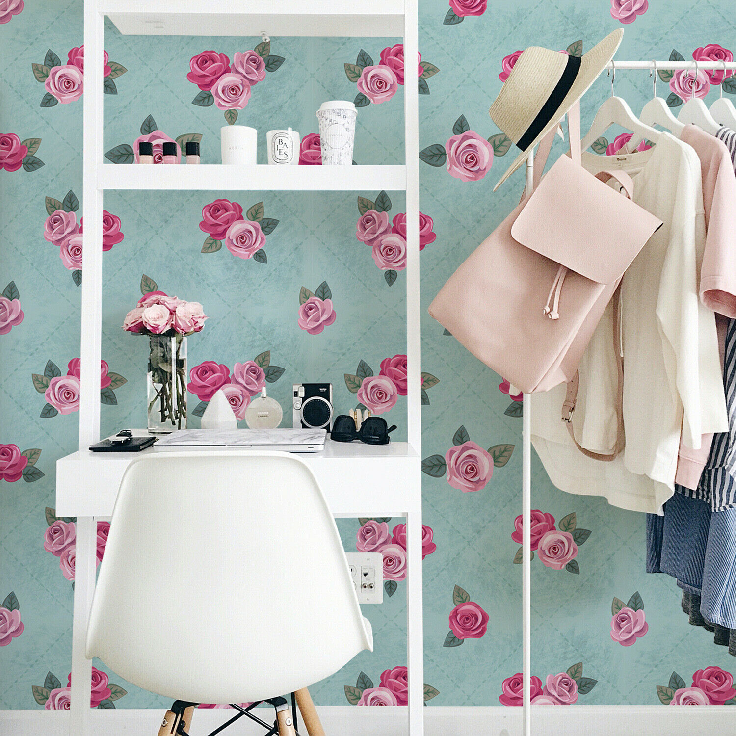 Tender Pinks Removable Wallpaper Flowers Wall Mural Floral