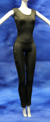 Barbie dark brown catsuit body suit jumpsuit clothes fits Model Muse Bellybutton