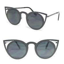 NEW 2017 RANGE Black Metal Frames Cat Eye Sunglasses Vintage Retro Style VTG640
