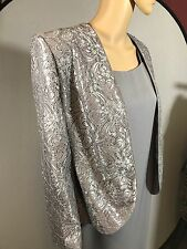 Mother Of The Bride Dress/Jacket Set by Karen Miller Lavender Gray Lace Sequins