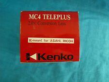 Kenko MC4 Teleplus 2.0X Conversion Lens K-Mount for Pentax & Ricoh Cameras