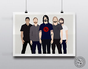 FOO-FIGHTERS-Dave-Grohl-Minimalist-Poster-Music-Minimal-Wall-Art-Band-Print