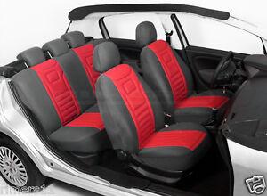 Schwarz-Rot Sitzbezüge für TOYOTA AYGO Autositzbezüge Vorne