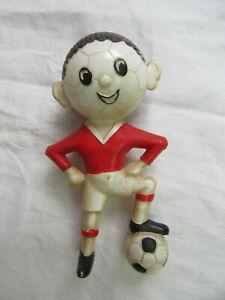 Details Zu Fussballer Fussball Figur Rot Weiss Original Ddr