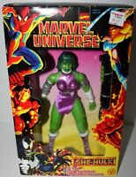 Marvel Universe 10 Tall She Hulk Poseable Figure Toy Biz W/accessory 1997