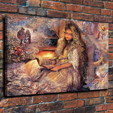 HD Print Josephine Wall Girl Book Dreams Home Art Deco Painting on Canvas 12x16