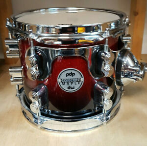 PDP-by-DW-Concept-Maple-12x9-034-Red-to-Black-Sparkle-Tom-Lackiert-Neu