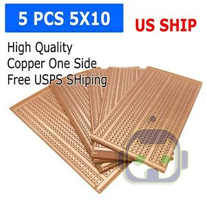 US-Stock-5pcs-Prototype-PCB-Universal-Bread-Board-5-x-10cm-Sigle-Side-Copper