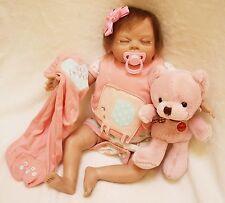 "Full Body silicone reborn Baby Doll 22 "" soft vinyl Lifelike Baby Dolls Clothes"