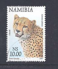 NAMBIA, 1997 FLORA & FAUNA, $10 CHEETAH, SG 766, FINE USED, CAT £2.50