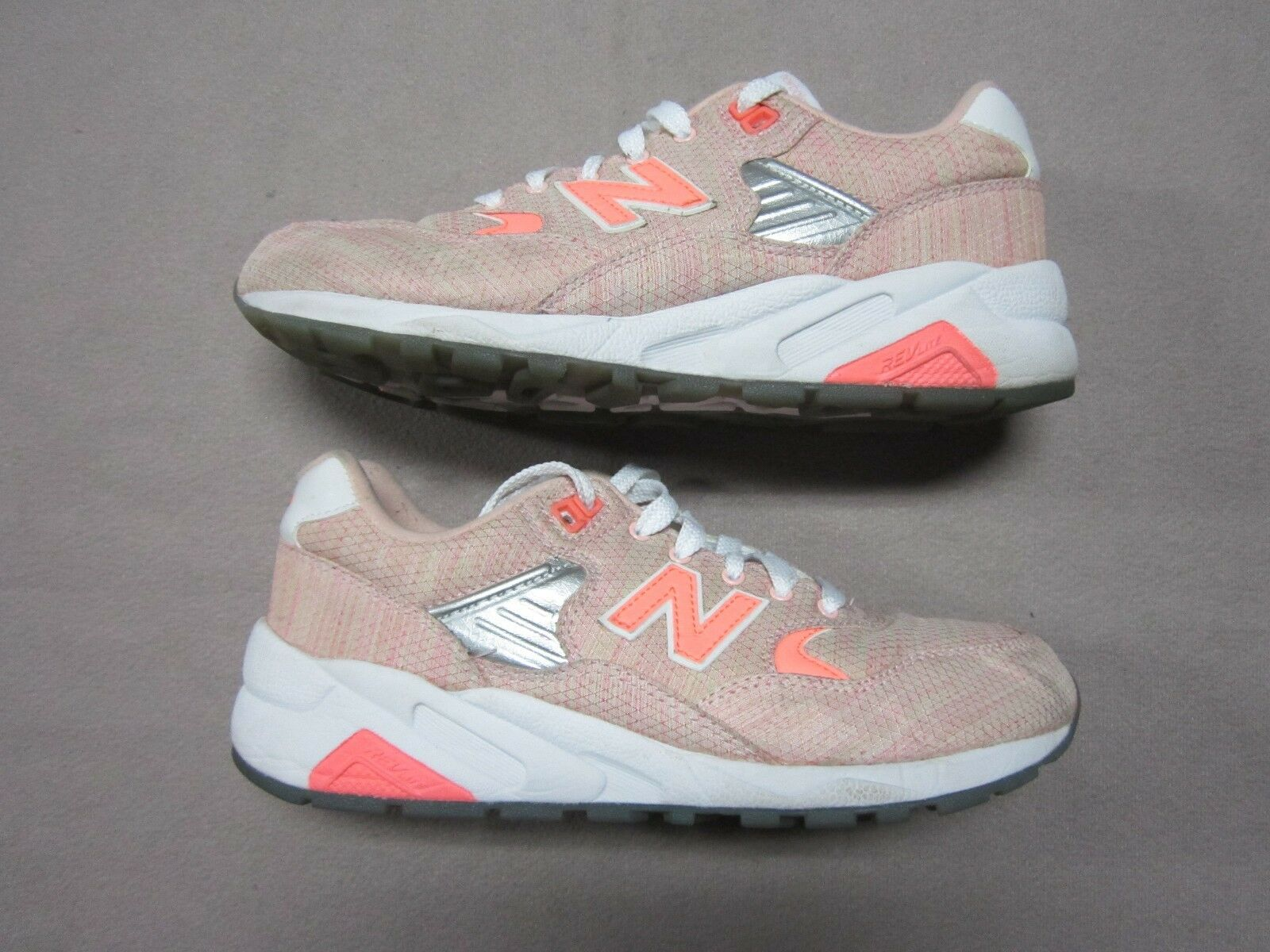 NEW BALANCE WOMENS 580 ELITE EDITION CORAL SORBET SHOES SIZE 7 WRT580IK PREOWNED