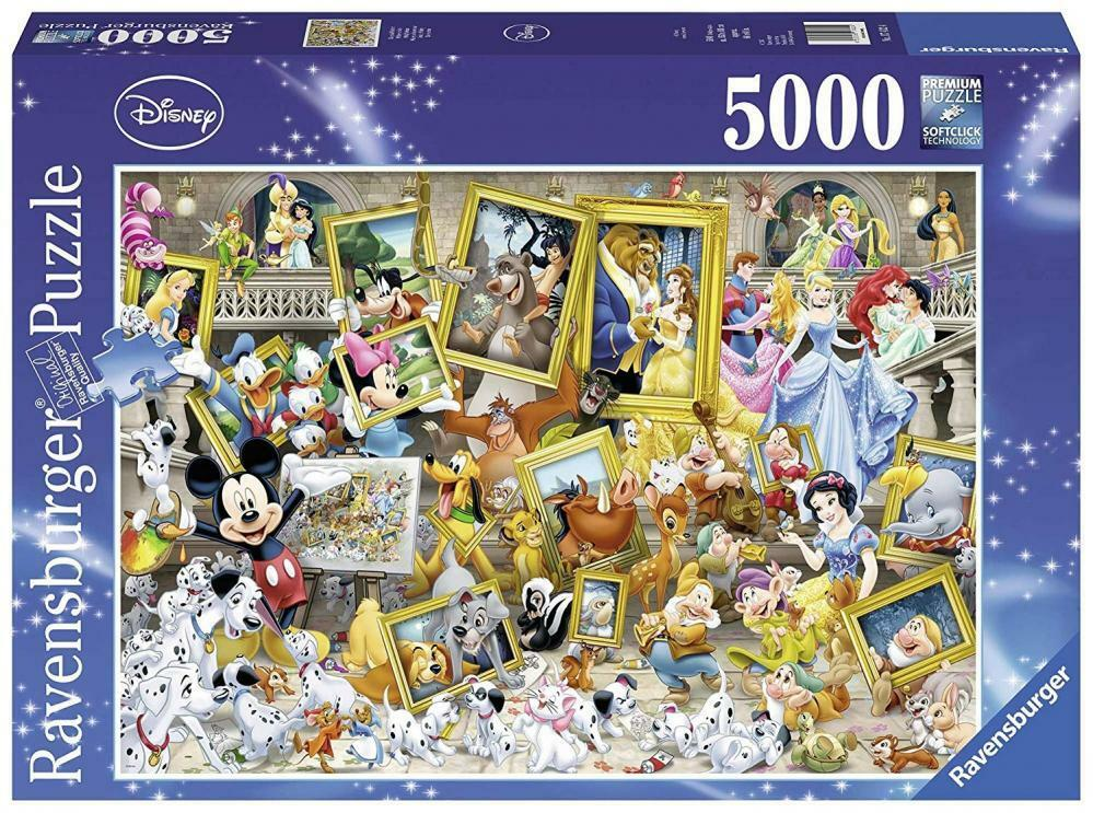 5000 Teile Puzzle Ravensburger 17432 Mickey als Künstler für Erwachsene & Kinder