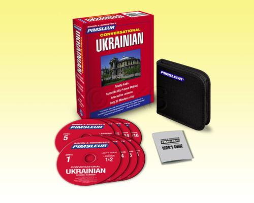 New 8 CD Pimsleur Learn Speak Conversational Ukrainian Language 16 Lessons