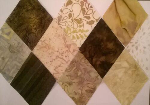 Stonehenge Batik Diamonds Fabric Pack remnants patchwork bundle 100/% cotton