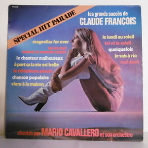 33T-Mario-CAVALLERO-LP-Succes-Claude-Francois-FOR-EVER-SPECIAL-HIT-PARADE-Pin-039-up