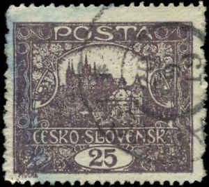 Czechoslovakia-Scott-46b-Used-Perf-13-3-4-x-10-3-4