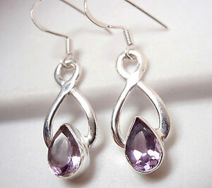 Image Is Loading Amethyst Infinity Symbol Signifies Forever Love 925 Sterling