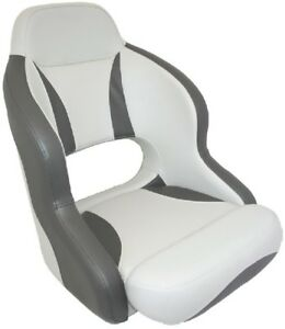 Details about 1 x ADMIRAL Helmsman Padded Boat Seats Seat Marine White /  Grey