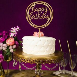 Phenomenal 5X Cake Wedding Happy Birthday Cake Topper Card Acrylic Cake Party Birthday Cards Printable Riciscafe Filternl
