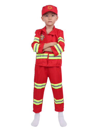 Kid Girl Boys Pilot Firefighter Astronaut Cosplay Spider Costume Dress Up Outfit