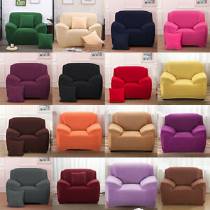 1-2-3-4-Seater-EASY-Stretch-Couch-Sofa-Lounge-Covers-Recliner-Dining-Chair-Cover