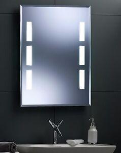 Illuminated bathroom wall mirror with long life led lighting 80x60 image is loading illuminated bathroom wall mirror with long life led aloadofball Images