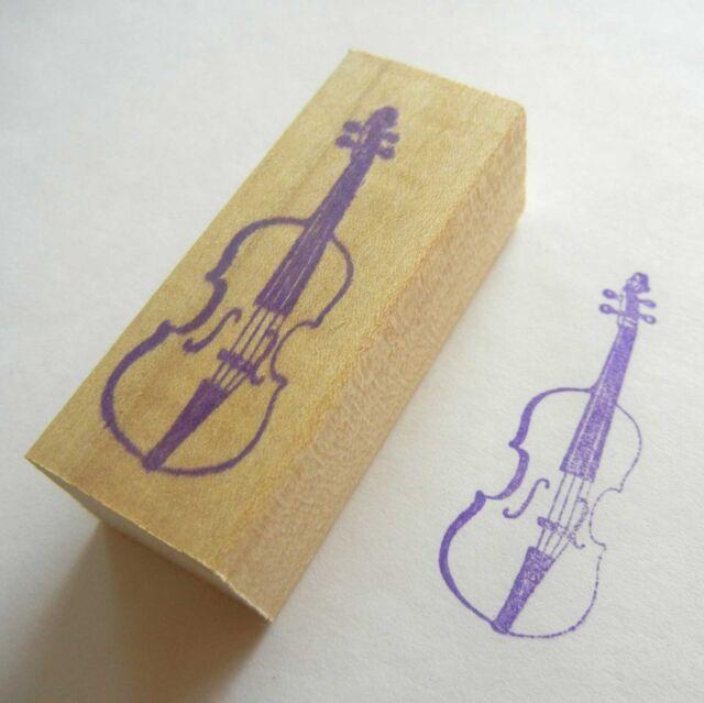 Musical Instrument Rubber Stamp - Violin