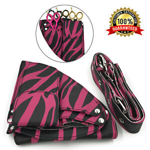 PU-LEATHER-BARBER-SALON-SCISSOR-SHEAR-HOLSTER-CASE-POUCH-WITH-WAIST-BELT-PINK