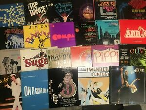 25-Musical-Broadway-Cast-Show-Soundtrack-NM-Records-LOT-70s-Annie-Oliver-Bye