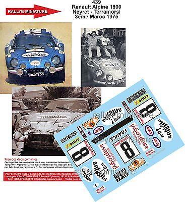 Decals 1/43 Ref 0439 Alpine Renault A110 Neyret Rallye Maroc 1975 Rally Wrc Completa In Specifiche